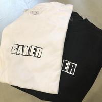 BAKER BRAND LOGO TEE WHITE & BLACK