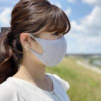 ≪コットンマスク≫繰り返し洗って使える無縫製の吸水速乾・立体フィット&形状記憶ニットマスク
