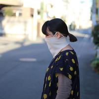 ニットで編んだ顔にフィットするしっとりマスク ベージュ