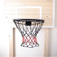 バスケットボール用ゴールネット コンビ(ブラック×オレンジレッド)