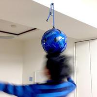 【ヘディングが上手くなるボールネット】カピタンオリジナル  パラコード ボールネット コンビ(ブラック×ブルー)