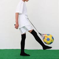 【リフティングが上手くなるボールネット】カピタン  パラコード ボールネット コンビ(ブラック×オレンジレッド)