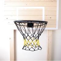 バスケットボール用ゴールネット コンビ(ブラック×イエロー)