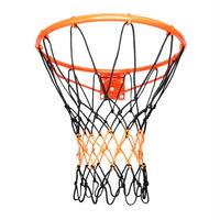 【12フック型】交換用バスケットゴール ネット コンビ(ブラック×オレンジレッド)