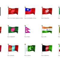 旗(アジア02)_イラスト