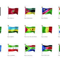 アフリカなど・国旗<3>(イラスト)