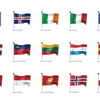 ヨーロッパなど・国旗<2>(イラスト)