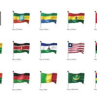 アフリカなど・国旗<2>(イラスト)