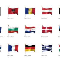 ヨーロッパなど・国旗<1>(イラスト)