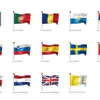 ヨーロッパなど・国旗<3>(イラスト)