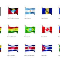 旗(アメリカ)_イラスト1