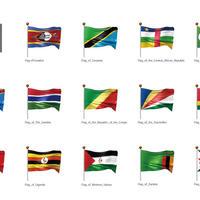 アフリカなど・国旗<4>(イラスト)
