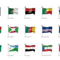 アフリカなど・国旗<1>(イラスト)