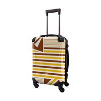アートスーツケース #CRA01H-015H ベーシック カジュアルボーダー(ブラウン×ネーブルスイエロー)