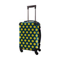アートスーツケース #CRA01H-027F|ベーシック コミカルドット(ネイビー×ネーブルスイエロー)