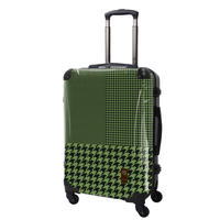アートスーツケース#CRA03H-024F|ベーシック 千鳥格子(グリーン)