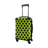 アートスーツケース #CRA01H-027E|ベーシック コミカルドット(ライトグリーン×ブラック)