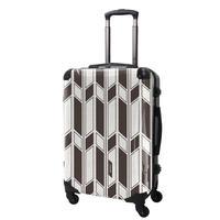 アートスーツケース#CRA03H-043B|ジャパニーズ旅趣 |  麻織(麦煎色)