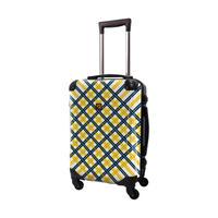 アートスーツケース #CRA01H-022D|ベーシック スペースチェック(ネイビー×イエロー)