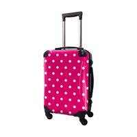 アートスーツケース #CRA01H-028B|ベーシック カラードット(ピンク)