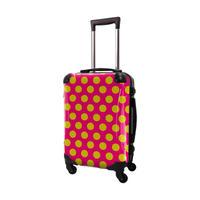 アートスーツケース #CRA01H-027H|ベーシック コミカルドット(ピンク×ネーブルスイエロー)