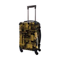 アートスーツケース #CRA01H-045D|ポップニズム シティ(キャメル×ブラック)