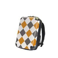 アートリュックサック#CRC02N-037E|ダイアモンドチェック(オレンジ×グレー×ホワイト)