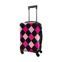 アートスーツケース #CRA01H-037G|ダイヤモンドチェック(ブラック×ピンクミックス)