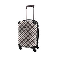 アートスーツケース #CRA01H-022C|ベーシック スペースチェック(ブラック×グレー)