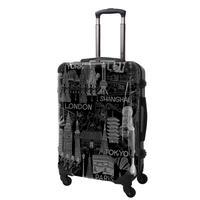 アートスーツケース#CRA03H-045B|ポップニズム シティ(グレ-×ブラック)