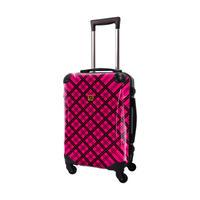 アートスーツケース #CRA01H-022E|ベーシック スペースチェック(ブラック×ピンク)