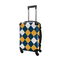 アートスーツケース #CRA01H-037H|ダイヤモンドチェック(ネイビー×ネーブルスイエロー)