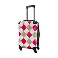アートスーツケース #CRA01H-037D|ダイヤモンドチェック(ピンク×ベージュ×オフホワイト)