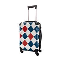 アートスーツケース #CRA01H-037C|ダイヤモンドチェック(ネイビー×レッド×オフホワイト)