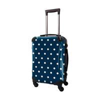 アートスーツケース #CRA01H-028F|ベーシック カラードット(ネイビー)
