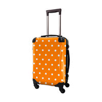 アートスーツケース #CRA01H-028C|ベーシック カラードット(オレンジ)
