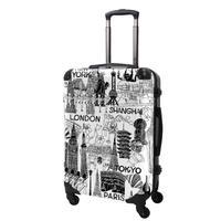 アートスーツケース#CRA03H-045A|ポップニズム シティ(ホワイト×ブラック)