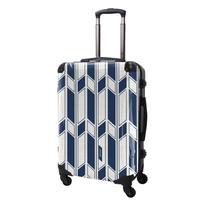 アートスーツケース#CRA03H-043A ジャパニーズ旅趣    麻織(紺色)