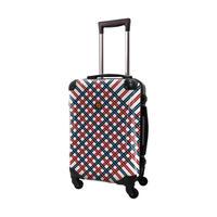 アートスーツケース #CRA01H-022A|ベーシック スペースチェック(レッド×ネイビー)