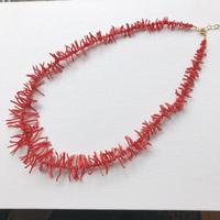 古渡(コワタリ)赤珊瑚ロングネックレス