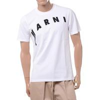 マルニ Marni ディトルテッドロゴプリントTシャツ コットン リリーホワイト