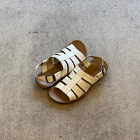 ANTONELLO SERIO LEATHER SANDAL[WHITE]