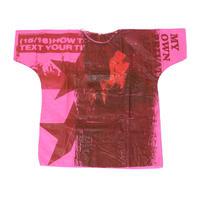 RAF SIMONS ラフシモンズ 世界100着限定ハンドペインテッドホスピタルTシャツ ピンク1