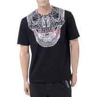 ブラックバレット BLACKBARRETT バイニールバレット by neil barrett 3Dメッシュスカルプリントクルーネック半袖Tシャツ コットン ブラック