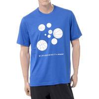 ブラックバレット BLACKBARRETT バイニールバレット by neil barrett バスケットボールプリントクルーネック半袖Tシャツ ブルー