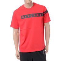 ブラックバレット BLACKBARRETT バイニールバレット by neil barrett コアロゴクルーネック半袖Tシャツ コットン レッド