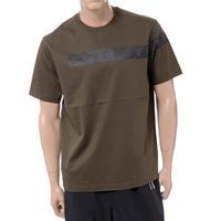 ブラックバレット BLACKBARRETT バイニールバレット by neil barrett コアロゴクルーネック半袖Tシャツ コットン カーキ