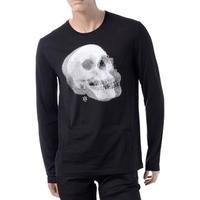 アレキサンダーマックイーン Alexander McQueen スカルプリントロングTシャツ ブラック