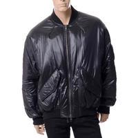 ハイダーアッカーマン Haider Ackermann オーバーサイズボンバージャケット ナイロン ブラック