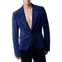 ハイダーアッカーマン Haider Ackermann OMEGA ジャケット ベロア ブルー